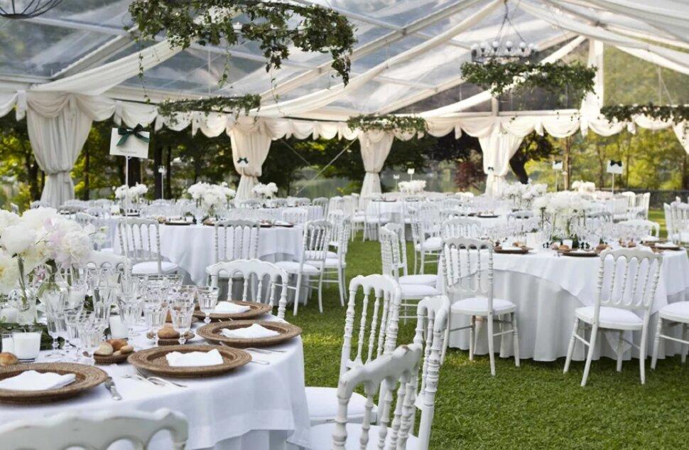 Свадебный банкет на природе 50 персон