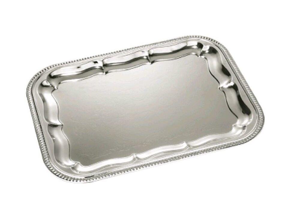 Блюдо прямоугольное металл 34х26 см